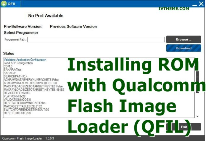 Installing ROM with Qualcomm Flash Image Loader (QFIL)